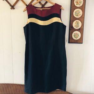 Silk & Linen Minimalist Midi Dress